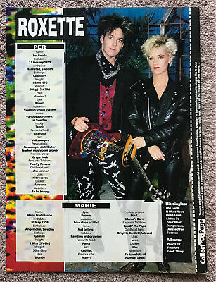 ROXETTE - 1990 full page UK magazine poster