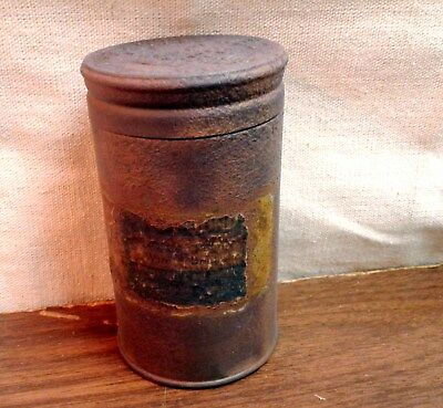 Antique 6 ounce Royal Baking Powder Tin Canister 2 Pieces Embossed Empty