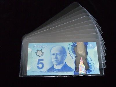 "10 (Ten) Bill holders 3""x7"" (Protector Sleeve) for storage polymer, paper money"