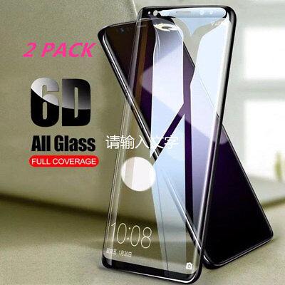 Full Cover Tempered Glass Samsung S8 S9 + Note 9 8 S7 Edge Screen Protector