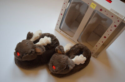 M&S Baby Booties Slippers Reindeer Boxed Christmas Gift 3-6months