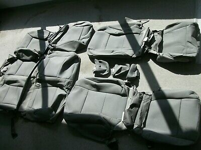 Ford F 250 350 Super Duty black cloth seat covers