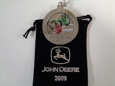 NEW John Deere 2009 8010 Tractor Pewter Ornament, No. 14 in Series PMDC02009