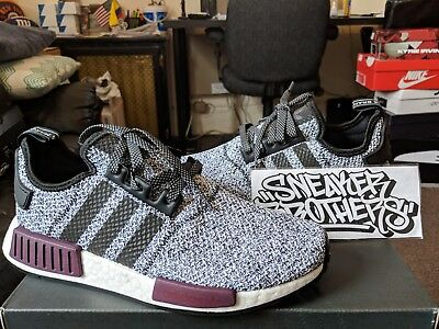 4191491f7c8ba Adidas NMD R1 Nomad Boost Champs Exclusive Wool Grey Burgundy Black B39506