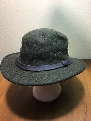 CC FILSON 100% Wool Charcoal Gray Packer Hunting Fishing Hat Made In ... 78680ffb4