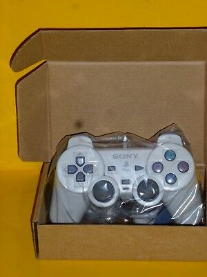 Official Sony PlayStation PS1 Dual Shock Analog Light Gray OEM Controller EUC