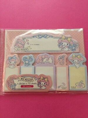 MY MELODY Sticky Notes Kit FUN! FREE Shipping!