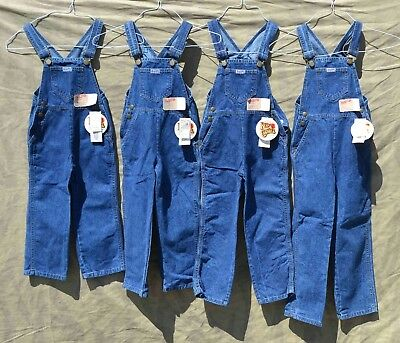 New Old Stock Red Camel Bib Overalls Quantity 3 Made in USA Vintage Boys Girls