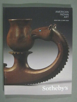 Sotheby 5/21/15 N09351 Native American Indian baskets bead work pottery blankets