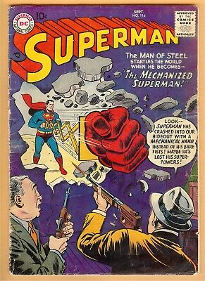 Superman #116 September 1957, DC, 1939 Series GD/VG