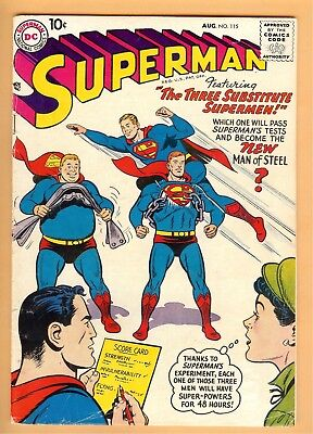 Superman #115 August 1957, DC, 1939 Series VG