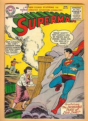 Superman #99 August 1955, DC, 1939 Series VG