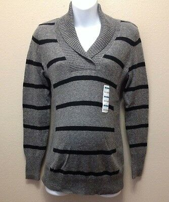 Old Navy  XS Sweater Maternity Gray/Black Stripe Nwt