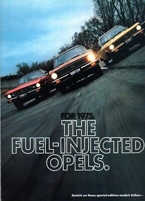 1975 Opel - 4-page centerfold ad from Motor Trend Magazine