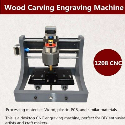 3 Axis 1208 Mini CNC Router Engraver Milling Spindle Machine Wood PCB Milling 3D