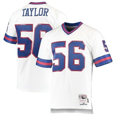 e7e320f970d Mitchell Ness 1986 Lawrence Taylor #56 New York Giants NFL White Replica  Jersey