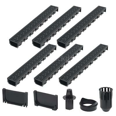 Drainage Channels 6 pcs Plastic 6 m O3K0