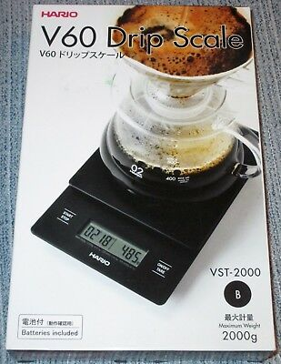New HARIO V60 Coffee DRIP SCALE and Timer - VST-2000B - Weight & Extraction Time