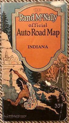 VINTAGE RAND MCNALLY Official Auto Road Map 1926 Indiana Atlas Booklet on missouri highway atlas, indiana road conditions map, louisiana road map atlas, arkansas county road atlas, delorme state atlas, connecticut road map atlas, indiana road closings, indiana and illinois road map, southern indiana atlas, indiana toll road exits map, ohio road atlas, american highway road atlas, indiana kentucky road map, indiana road map online, colorado map road atlas, mississippi state map atlas, map of ohio atlas, indiana road map with mile markers, indiana topographic maps,