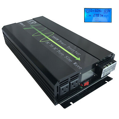 3000W Power inverter Pure Sine Wave 24V DC to 120V AC for Car/Home Solar From US
