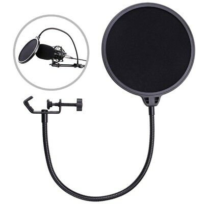 Recording Studio Microphone Pop Filter Mic Wind Screen Mask Shield Dual Layer US