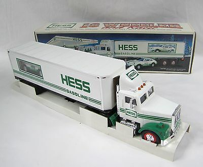 Hess 18 Wheeler And Racer 1992 New In Original Box, Never Removed From Packing