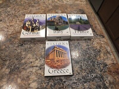 Visions Germany Italy France & Greece DVD Lot
