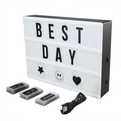 Mini LED Cinema Light Box A4 Size Free Combination Cinematic with 90 Letters DIY