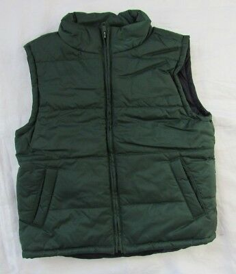 Gymboree Boys Winter Black Green Vest Sleeveless Jacket XS (3-4)