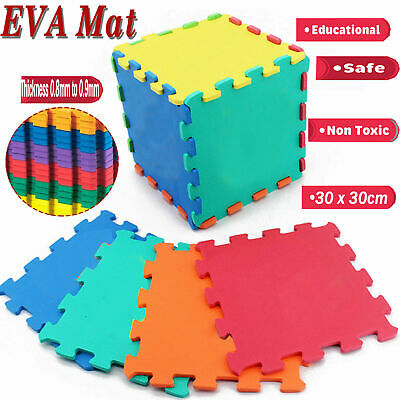 Soft Eva Foam Interlocking Floor Tiles Play Mats Kids Exercise Gym Yoga Fitness
