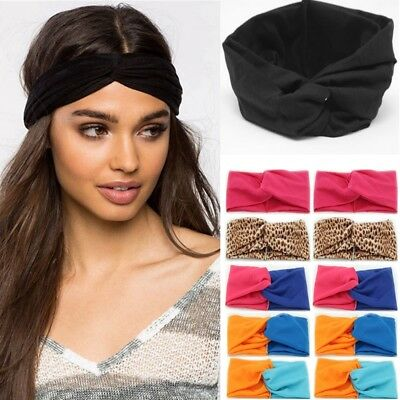 Hot Stretchy Twist Knot Bow Head Wrap Headband Twisted Knotted Ladies Hair Band