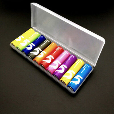 Portable plastic battery case cover holder storage box for 10pcs AA Batteries Jc