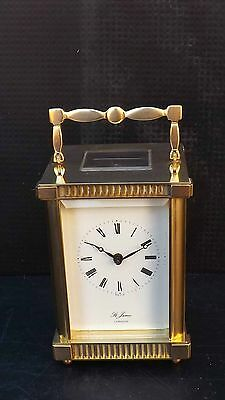 St James of London carriage clock in good working order & condition.