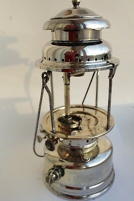 Old Brass chrome plated Swedish 1930´s  KEROSENE LANTERN gas Radius 119