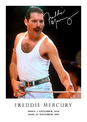 Freddie Mercury poster - tribute - signed (copy) # 32 - A3 - 420mm x 297mm NEW