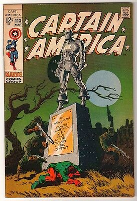 MARVEL Comics FN- STRANGE DEATH OF CAPTAIN AMERICA Avengers 113 STERANKO