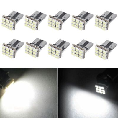 10 PCS Super White T10 Wedge 9-SMD Interior LED Light bulbs W5W 194 168 2825 158
