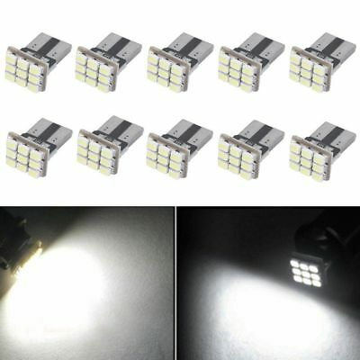 10Pc x T10 W5W 1206 9SMD Car LED Light Canbus Auto Instrument License Plate Lamp