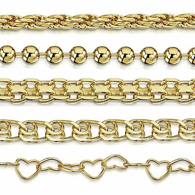 Amberta Genuine Gold Plated on 925 Sterling Silver Bracelet Bangle Chain Italy