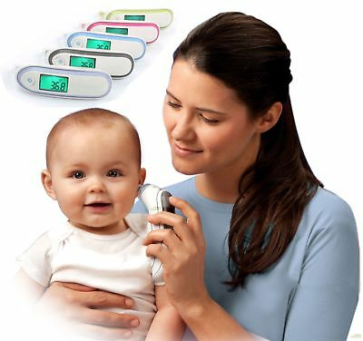 Digital Infrared Ear Forehead Thermometer Baby Adult Fever Temperature Meter F7