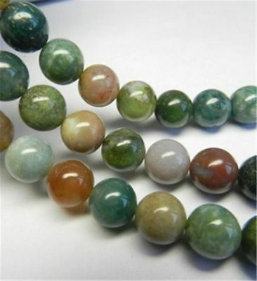 6-8MM Natural India Agate Gemstones Round Loose Beads 15''AAA