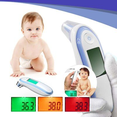 Digital Infrared Ear Forehead Thermometer Baby Adult Fever Temperature Meter FK