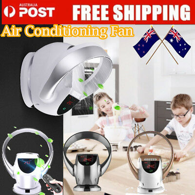 Air Conditioning Bladeless Fan Shake Cooling Fan Remote Control Wall Mounted AU