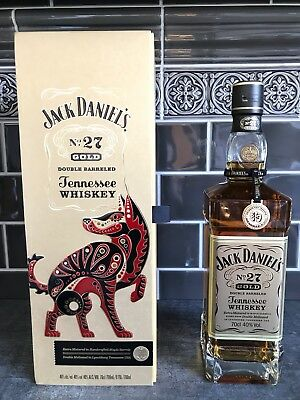 JACK DANIELS No 27 GOLD * CHINESE DOG EDITION * NEW & SEALED * RARE & SELTEN