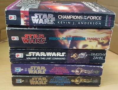 Star Wars novels bundle of 5 assorted books lot including Shadows of the Empire