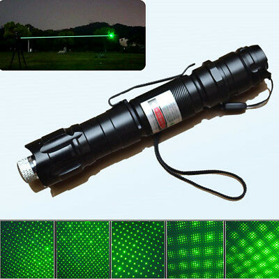 Military 50Mile Green 1mw Laser Pointer Pen Light 532nm Visible Beam Focus Zoom