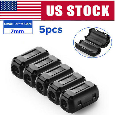 5x 7mm Ferrite Ring Core RFI EMI Noise Suppressor Cable Clip Filter Fr 5mm Cable
