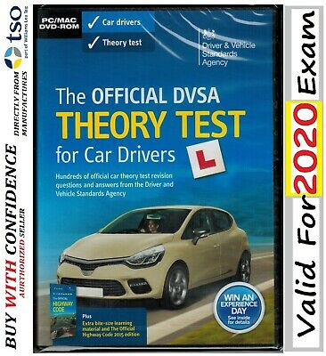 THE OFFICIAL DSA DVSA THEORY TEST FOR CAR DRIVERS PC MAC CD DVD ROM 2020 ThrDv
