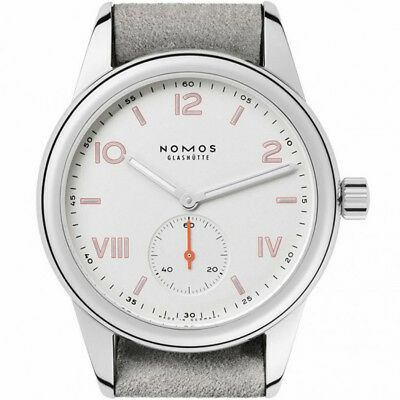 Nomos Glashuette Women's Club Campus 36mm Leather Band Mechanical Watch 708