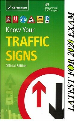 Know Your Traffic Signs Uk Paperback, Official Book DSA Up To Date For 2019-Trfc